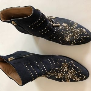 Chloe Susanna Navy Suede Boots